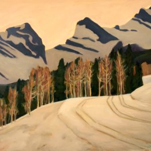 "Three Sisters Canmore Nordic Trails 30"" x 36"""