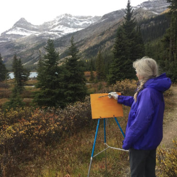 Painting Residency at Num-Ti-Jah Lodge, Bow Lake – September 2019