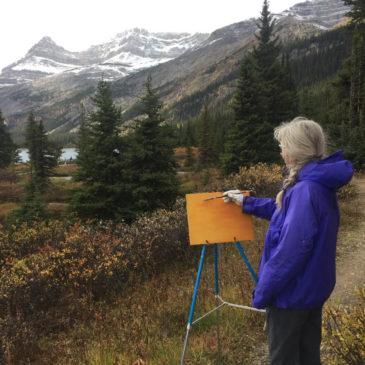 Painting Residency at Num-Ti-Jah Lodge, Bow Lake – September 2019