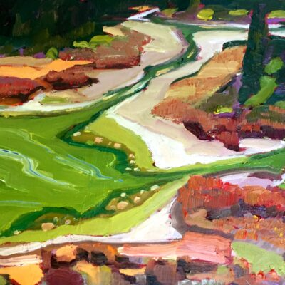 "Alkali Pond from Above 10"" x 12"""