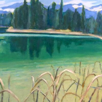 """Halgrave Lake - South View - 12""""x 16"""""""