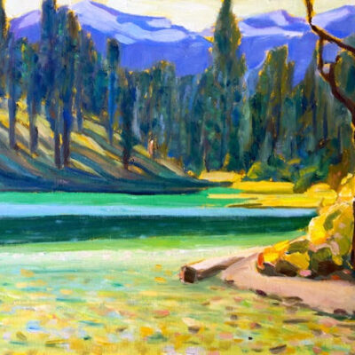 "Halgrave Lake - West View 12"" x 16"""