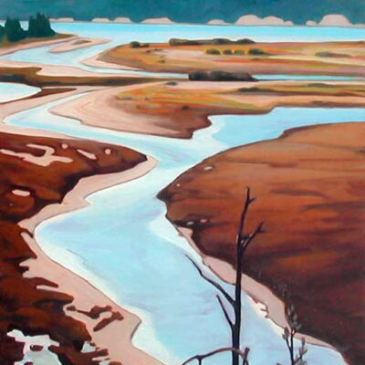 "Headwaters Columbia River 36"" x 30"""