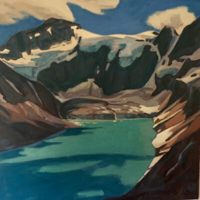 "Lake of the Hanging Glacier 24"" x 24"""