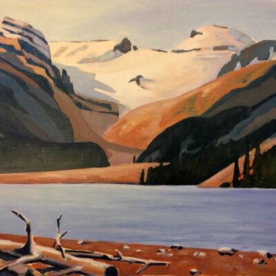 """Peyto Lake and Glacier - 36"""" x 48"""""""
