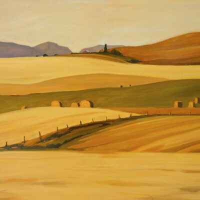 "Rockies and Golden Fields 36"" x 48"""