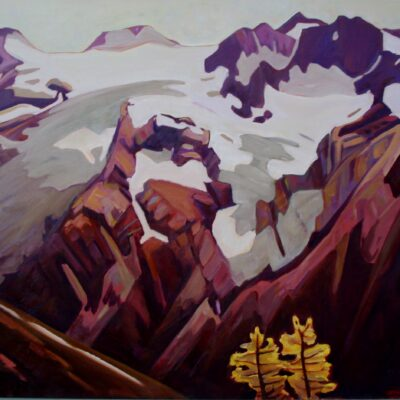 "Commander Glacier from Jumbo Pass 36"" x 40"""