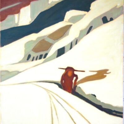"The Backcountry Skier Outdoor Life Series - 36"" x 30"""