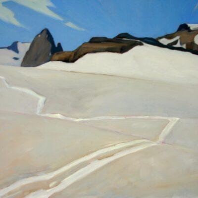 "Tracks on Glacier Dome - 24"" x 36"""