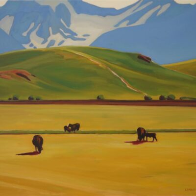 "Ranchlands Meets the Rockies 30"" x 36"""
