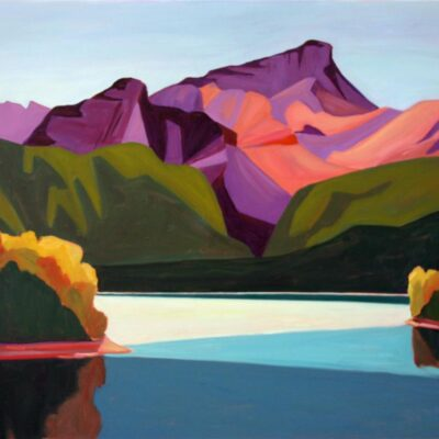"Mount Nelson and Lake Lillian 30"" x 36"""