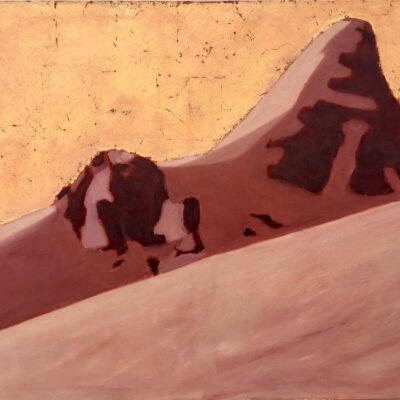 """'Saint Nicholas Peak', oil and goldleaf on Canvas, 36"""" x 48"""", oil and goldleaf on canvas"""