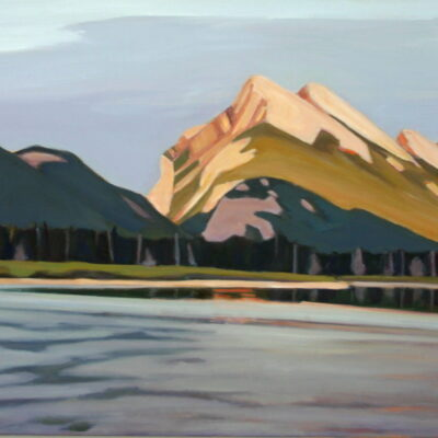 "Mount Rundle and Vermillion Lake 24 ""x 48"""