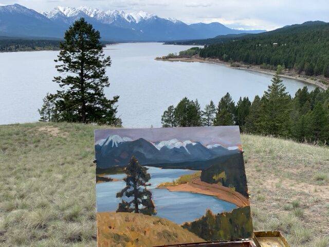 Painting on Location – Lake Windermere (May 12, 2021)